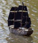 Model pirate ship. Photo by Tony Hisgett (2010). PD-CCA 2.0 Generic. Wikimedia Commons.