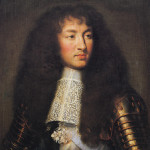 Portrait of Louis XIV. Oil on canvas by Charles Le Brun (1661). Palace of Versailles. PD-100+. PD-US. Wikimedia Commons.