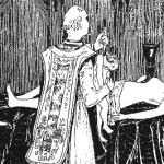 Messe Noire (Black Mass). Engraving by Henry de Malvost (1895). Le Satanisme et la Magie. PD-mark 1.0. PD-US. Wikimedia Commons.