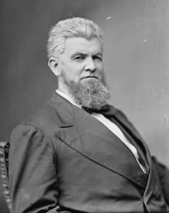 David M. Key, Tennessee Senator and U.S. Postmaster under President Hayes. Photo by Matthew Brady (c. 1870-80). Library of Congress. PD-USGOV. Wikimedia Commons.